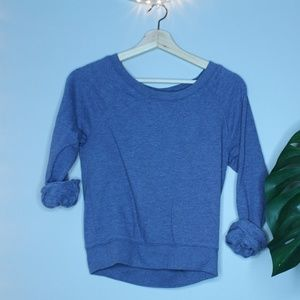 H&M Heather Blue Sweat Shirt